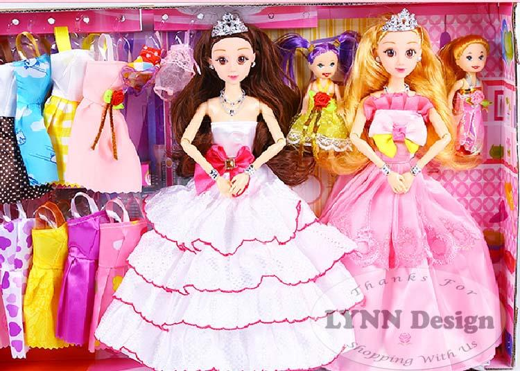 Mainan set Boneka Barbie dress Anak+ 128 aksesoris_ Lynn Design