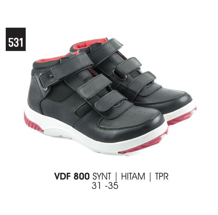 Sepatu anak/sepatu sekolah Everflow VDF 800 Hitam