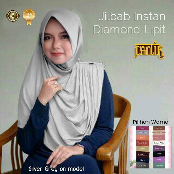 Jilbab Instan Diamond Lipit - Putih