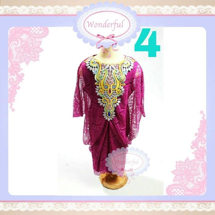 KAFTAN ANAK UNGU BIG SIZE Dress Branded Gamis Pesta Frozen Gaun Import
