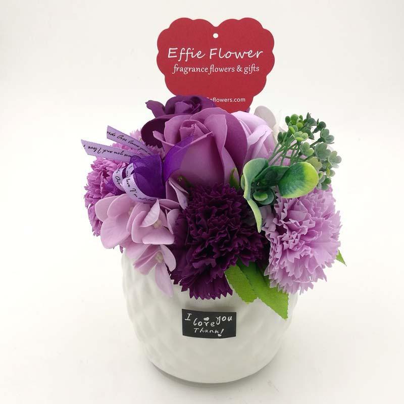 sabun mawar / Kado valentine buket bunga 3 mawar + boneka BNG002.