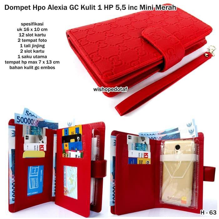 BEST SELLER!!! dompet hpo alexia gc kulit 1 hp android 5,5 inc mini merah - WzPwGe