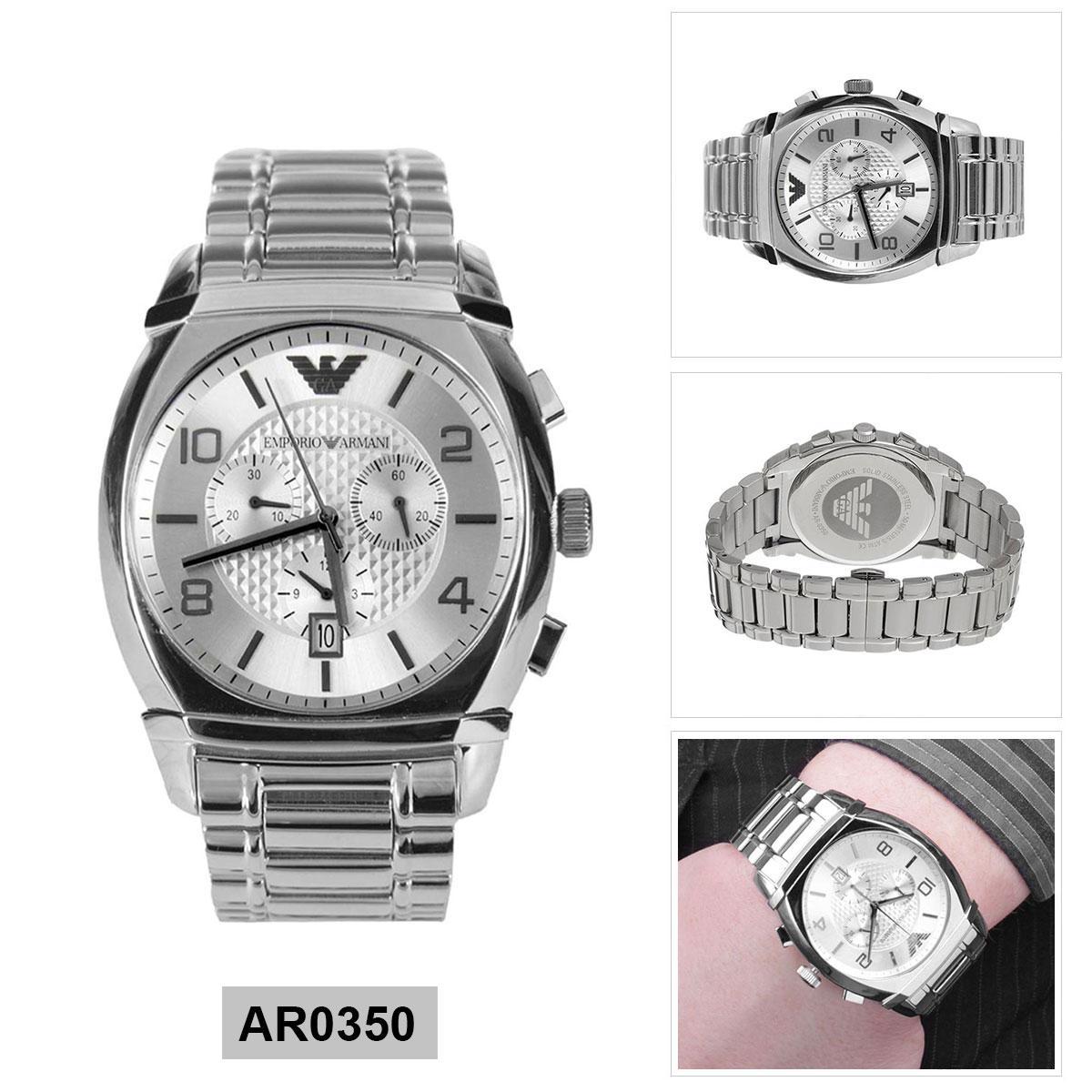 4f126b8d1f35 Armani Exchange Quartz Silver Stainless-Steel Case Stainless-Steel Bracelet  Mens AR0350