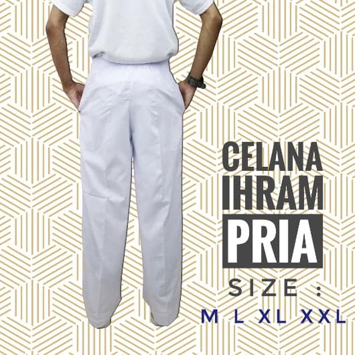 Celana Pangsi Panjang Putih Haji Umroh/Celana Umroh/Celana Haji/Celana Putih/Celana Laki-laki/Celana Kargo/Celana Pria