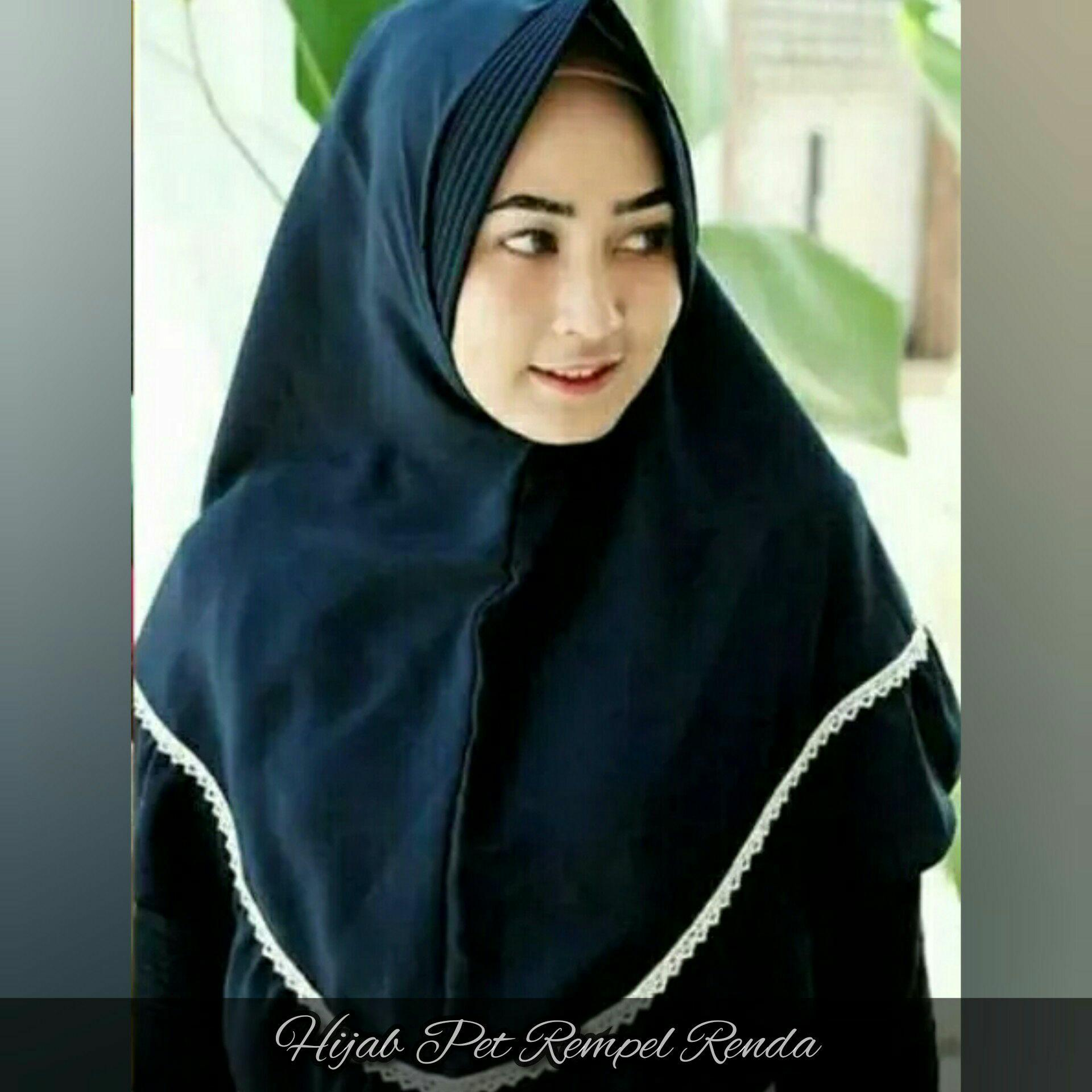 Jilbab hijab instan khimar pet anti tembem rempel renda
