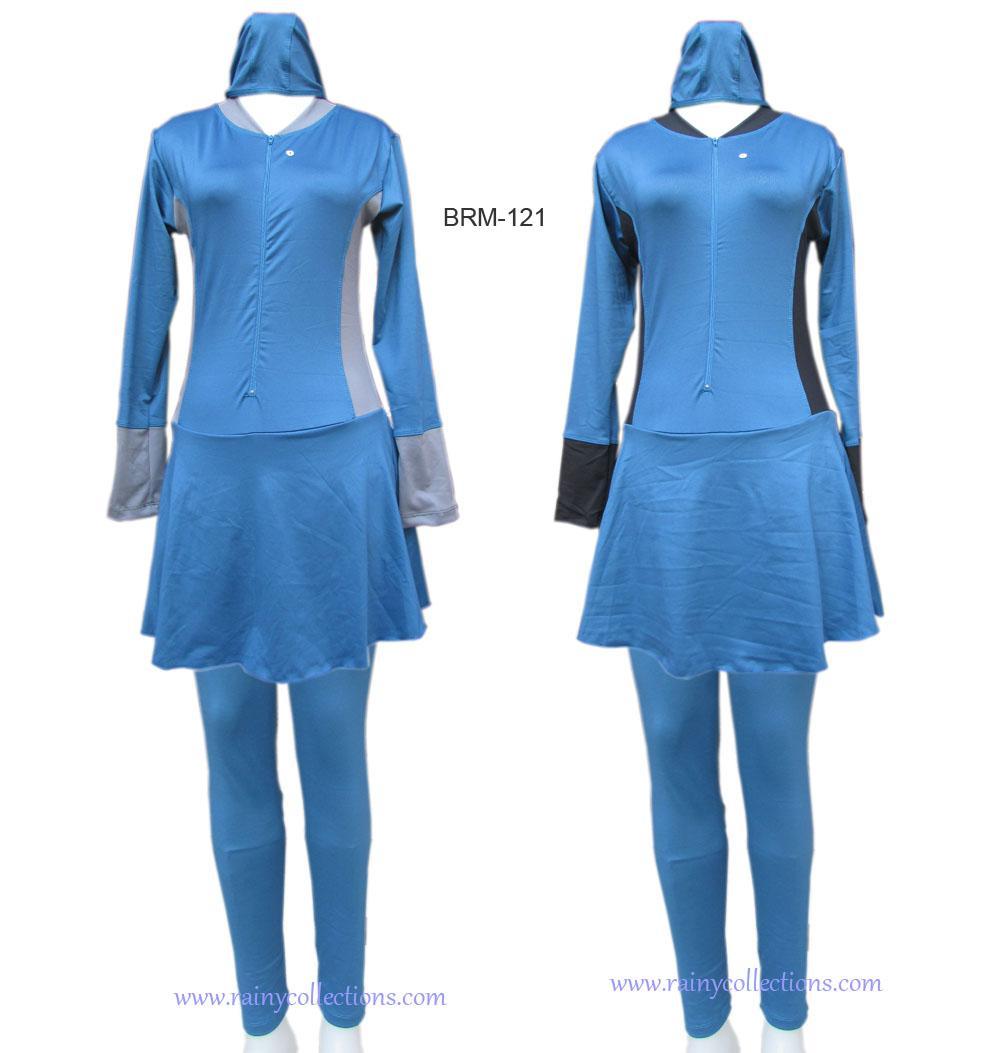 Baju Renang Muslimah Dasar Hitam Polos