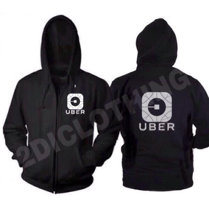 Jaket Uber Versi Baru / Jaket Uber App New Logo / Jaket Uber Driver - Kw2vty
