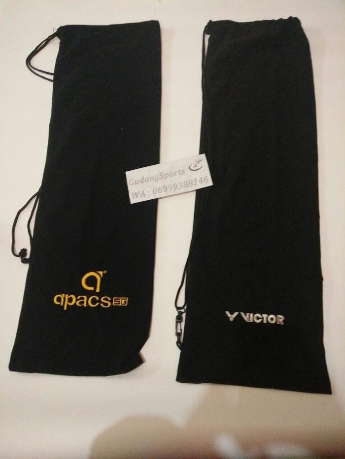 Tas Kain Raket Badminton / Sarung Raket Badminton Merk Apacs & Victor - yoGzCQ