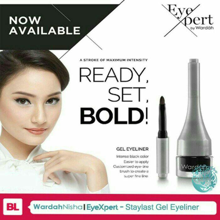 Best seller wardah cosmetic. Wardah gel eyeliner staylast. Wardah gel eyeliner original. Wardah staylast gel eyeliner waterproof