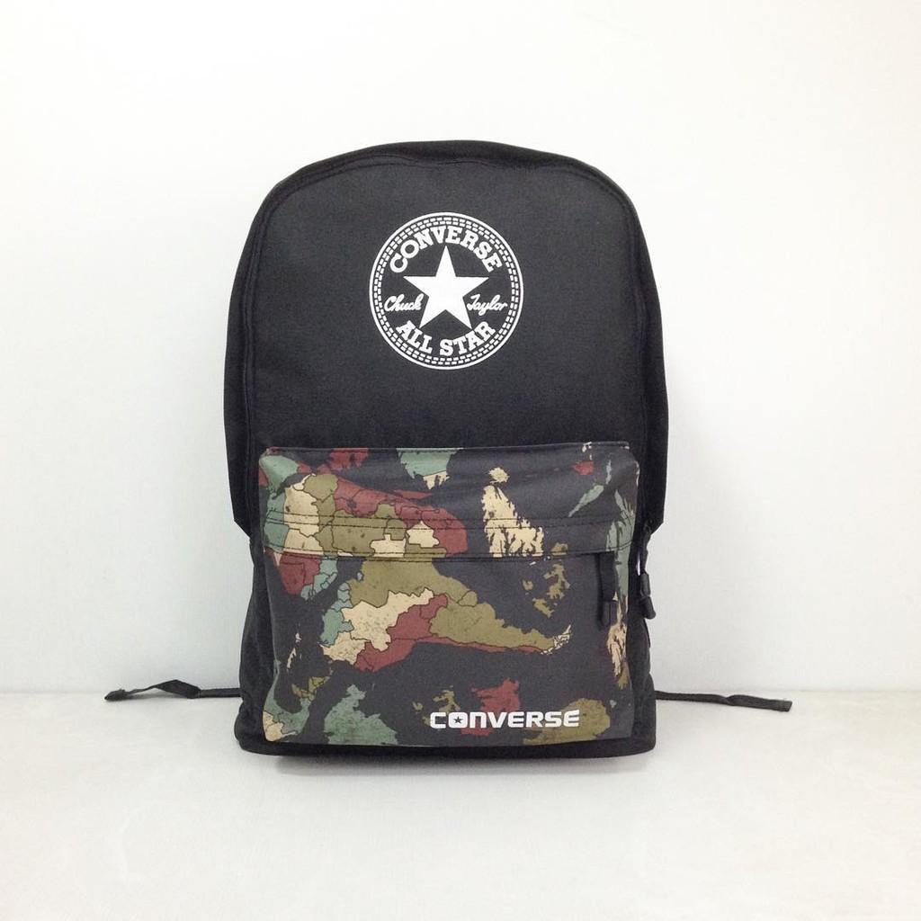 Tas Ransel Converse Corak Camo - Converse - Cowok - Murah - Distro - Sekolah - Cewe Tas Punggung Backpack Grosir Murah