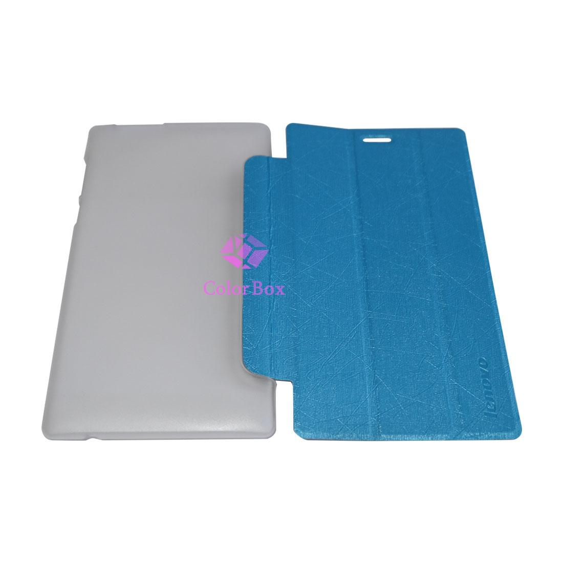 Case Flip Leather Cover Lenovo Tab 2 A7-10 / Flipcover Lenovo Tab 2 A7-10 / Sarung Tablet / Dompet Tablet - Biru Muda