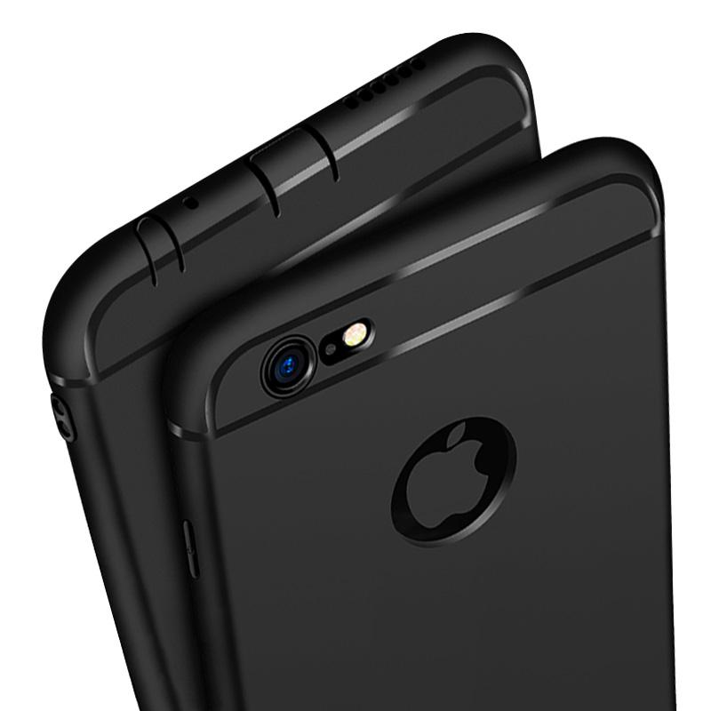 Case IPHONE 6 PLUS - Softcase SILICON THIN BLACK MATTE IPHONE 6+