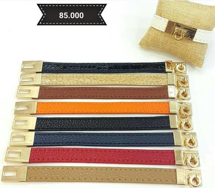 Gelang - CDC Hermes 1 Inch Leather Bracelet