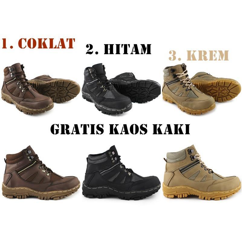 Sepatu Safety Boots Crocodile Armor Tracking Kerja Proyek Anti Selip Medan Tempur