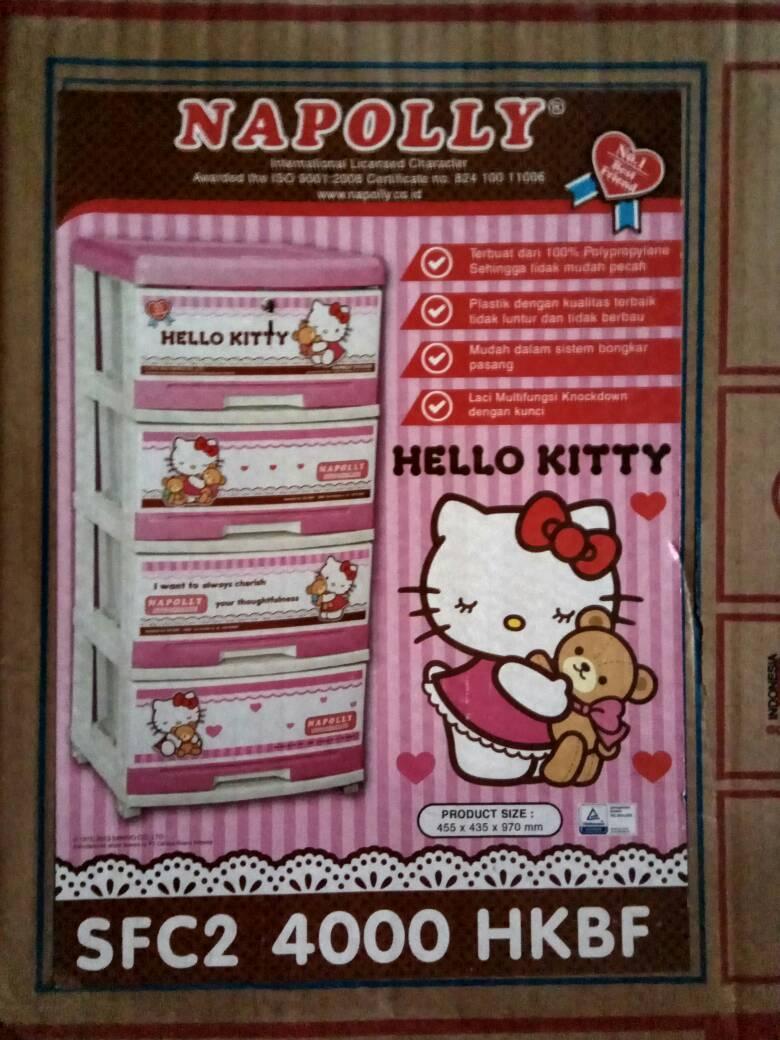 Lemari Laci Plastik Napolly Susun 4 - Hello Kitty 4000 HK