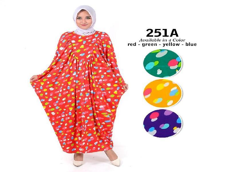 Fashion Baju Gamis Kalong Dress XL Jumbo Big Size Murah Wanita Muslim Kekinian 251A