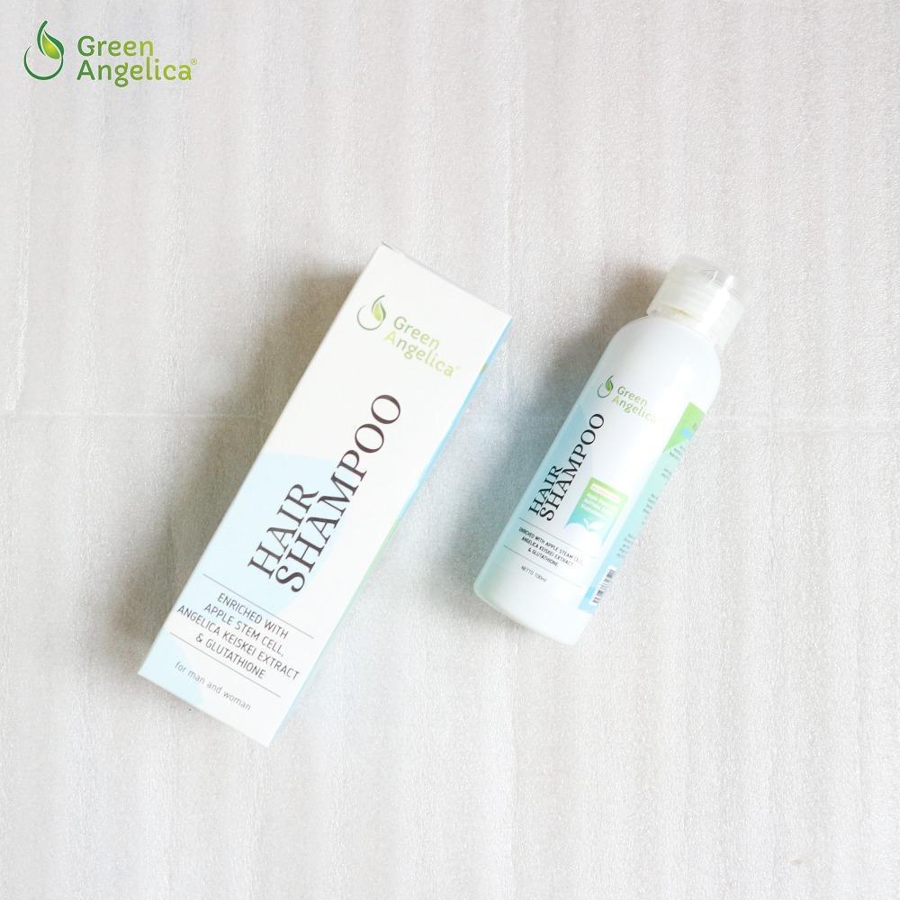 ... Shampo Penumbuh Rambut Cepat Herbal Alami Tanpa Efek Samping Green  Angelica - 4 ... b7641a72ee