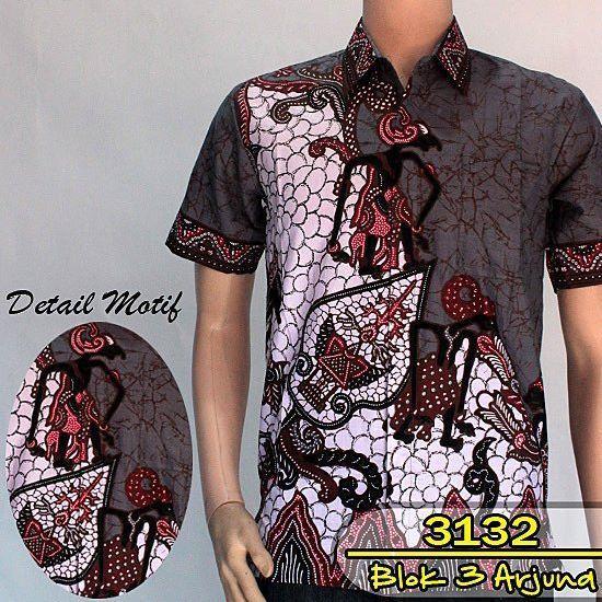Jual Baju Batik Pria Baju Batik Modern Kemeja Batik Pekalongan Hem Batik Kemeja Motif Wayang Blok