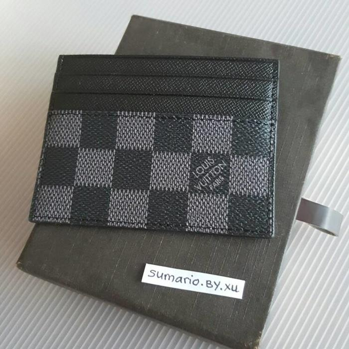 LV CARD WALLET BLACK DOMPET KARTU KULIT ASLI HOLDER LOUIS VUITTON  - CO4J5e
