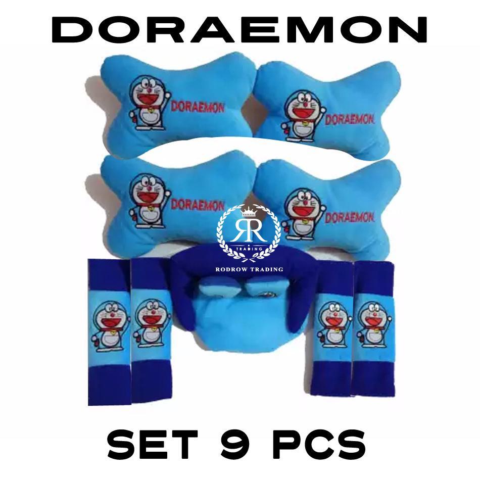 Bantal Mobil Doraemon Set 9 pcs / Bantal Jok Mobil Doraemon Set 9 pcs
