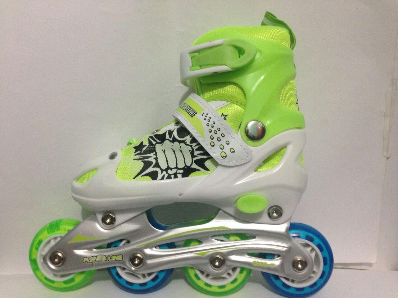 sepatu roda ban karet hijau   baut bajaj