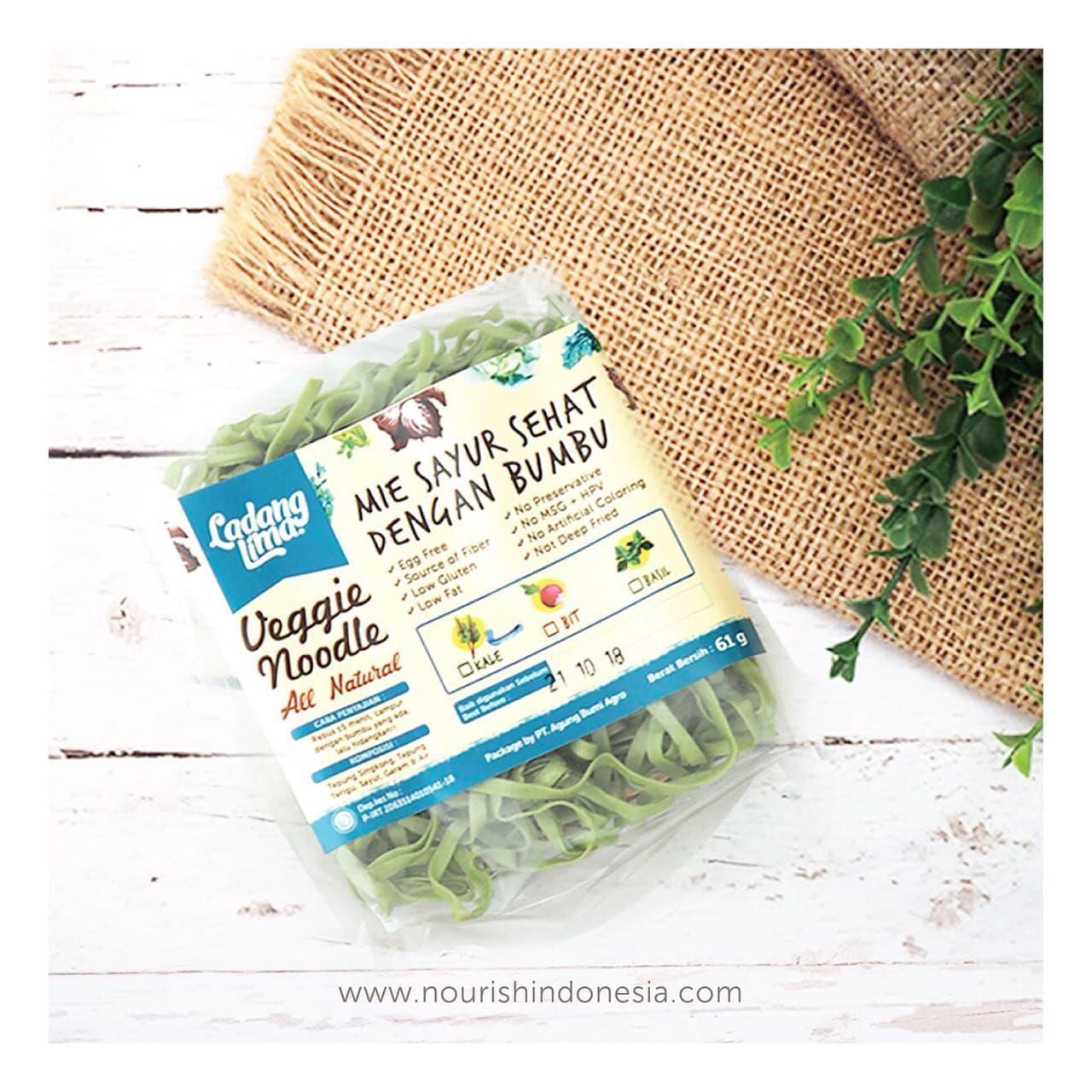 TERMURAH Ladang Lima, Mie Kale 76g Dengan Bumbu non msg Snack Diet Sehat