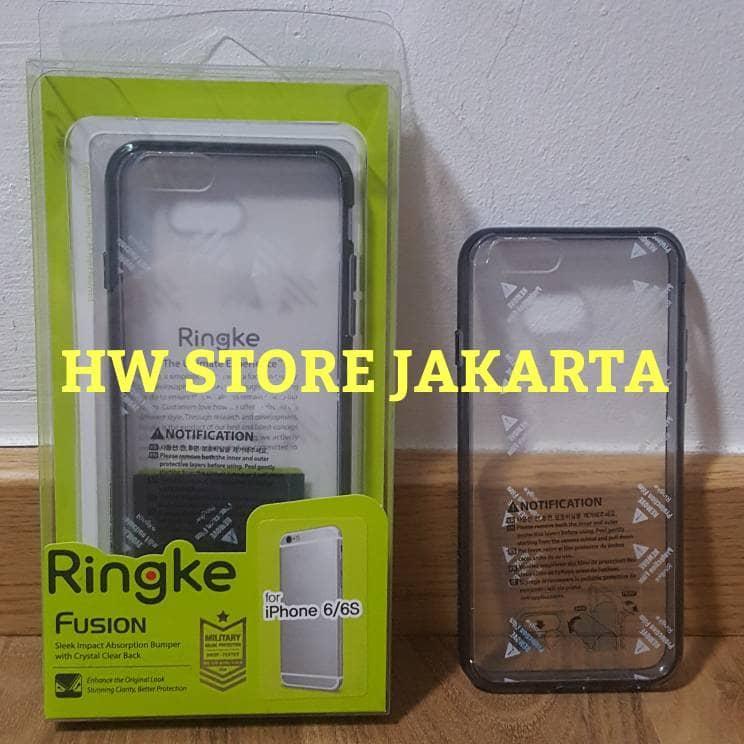 Casing Rearth Ringke Fusion iPhone 6 / iPhone 6s Smoke Black Ori