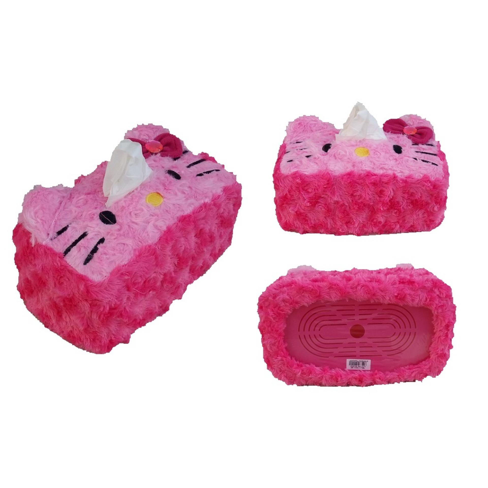Hello Kitty Sarung Kotak Tissue Motif Bordir