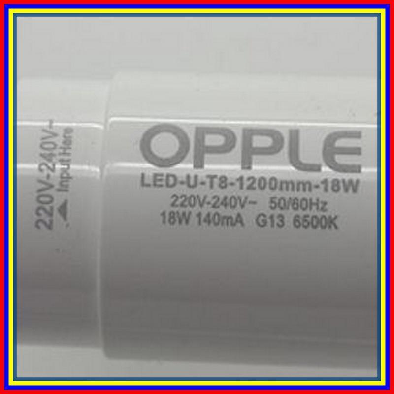 Led Tl Opple T8 18 Watt Cahaya Putih 220V Pengganti Neontl