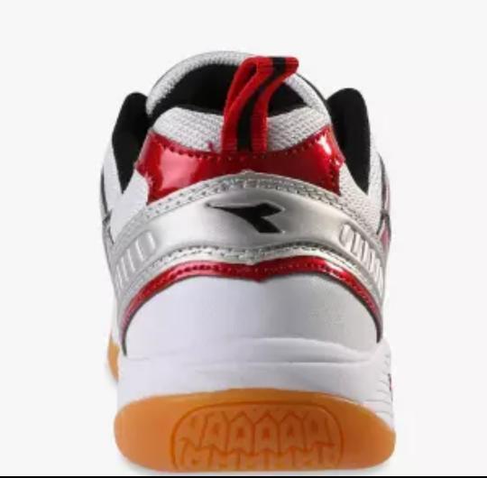 Sepatu DIADORA NEILSEN, White Red DIAID7306WRD. Sepatu Badminton - I3kxUs