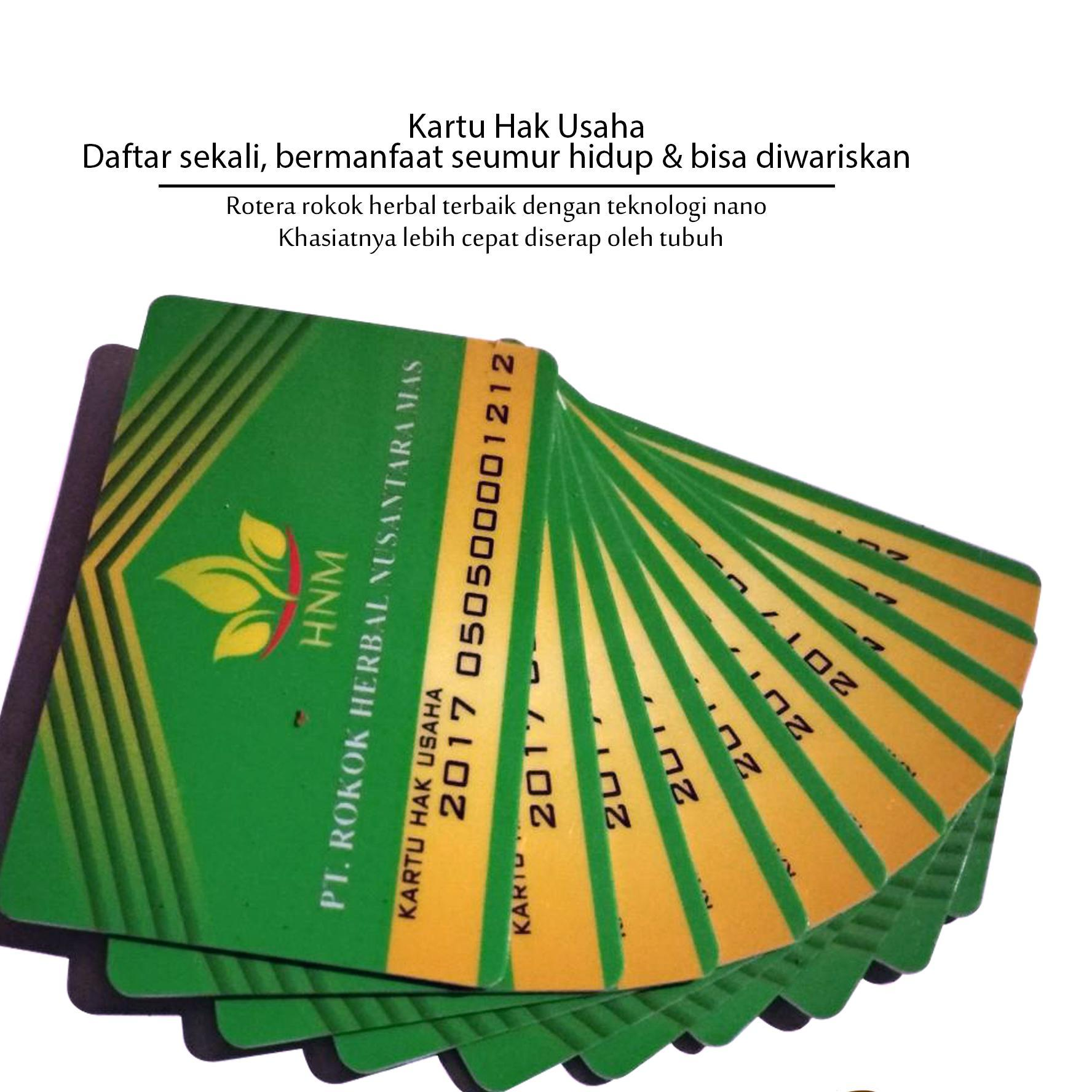Kartu Member Dan Stokis Rokok Herbal Rotera - Berlaku Selamanya