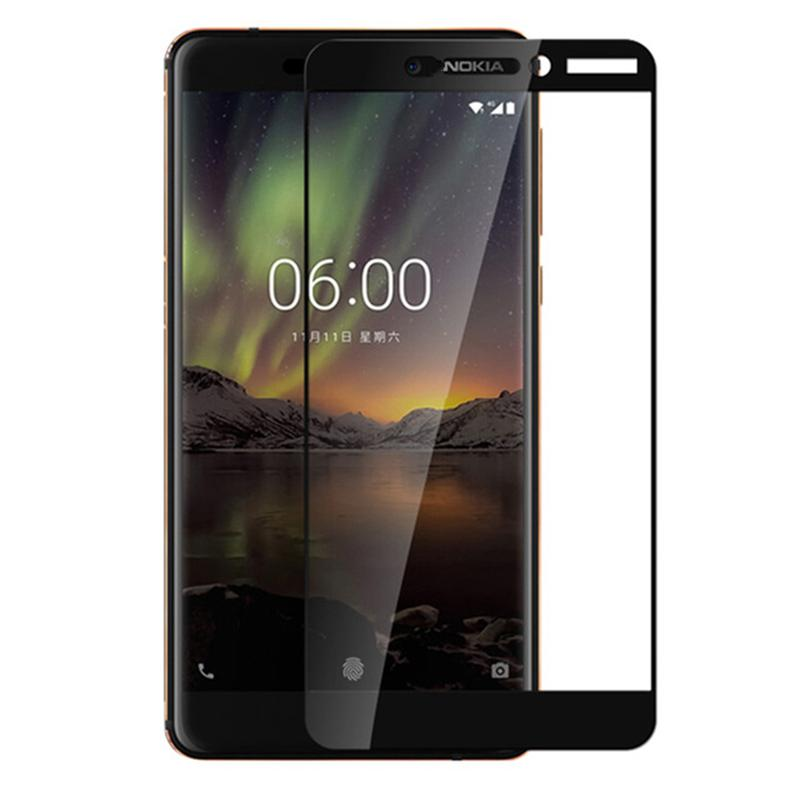 Full Cover Tempered Glass 5D Screen Protector Nokia 6 2018
