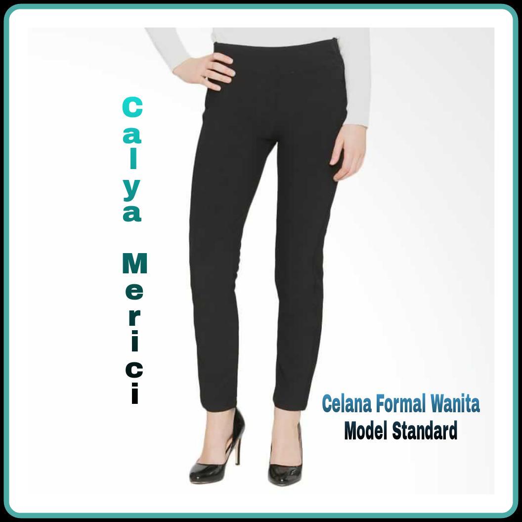 Info Harga Celana Panjang Wanita Bahan Terbaru Termurah Bulan Ini Hareem Pants Standart Calya Merici Formal Standard Kerja Kain Gabardin M L Xl