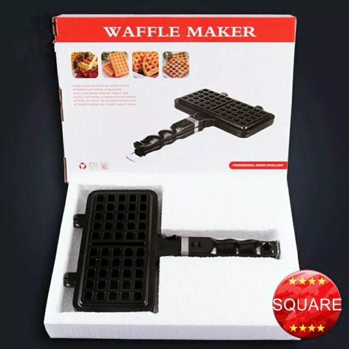 Cetakan Loyang Teflon Waffle Maker Double Pan Cake Maker Brg Import - 2 ...