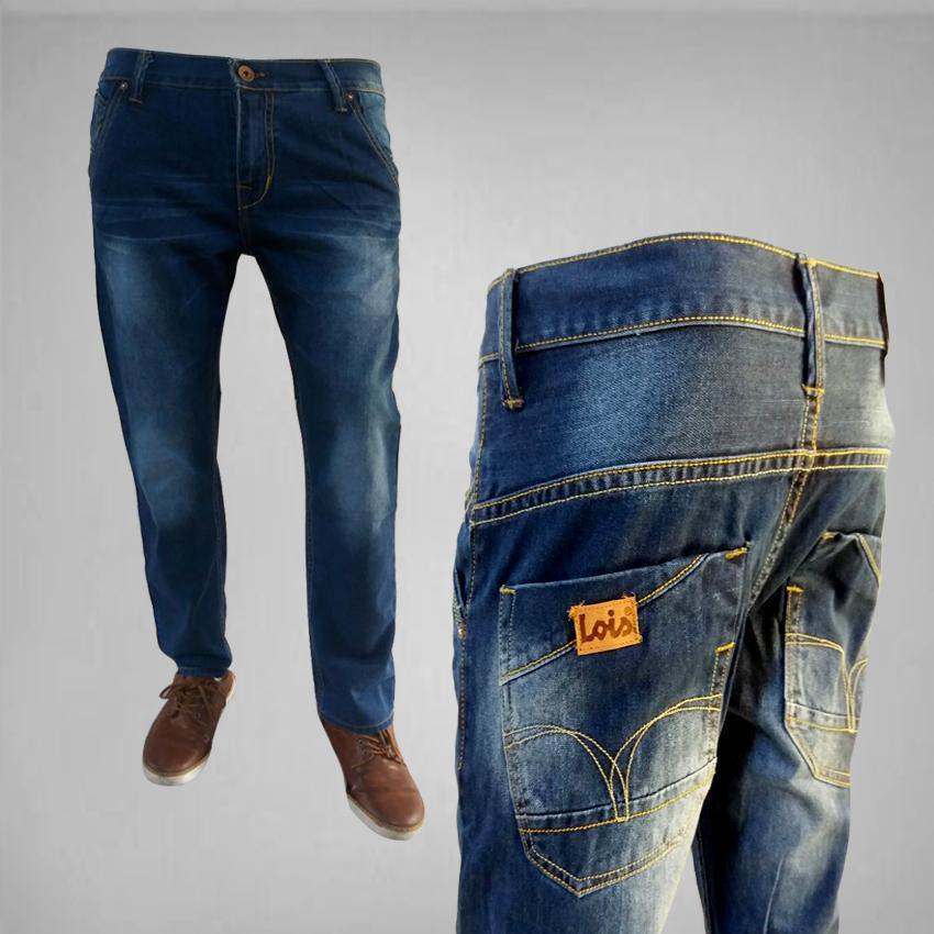 Celana Jeans Pria - Lois Standar Biru Bahan Tidak Melar Best Seller
