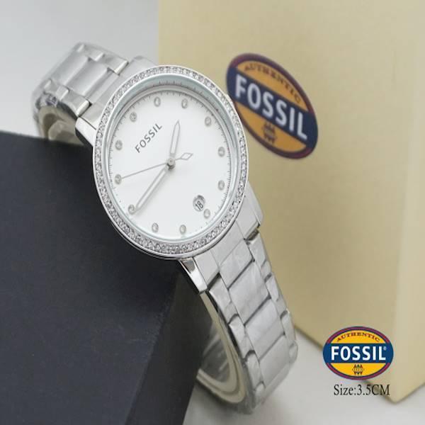 Jam Tangan Wanita Fossil Diamond Baterai Chain Tgl KW1