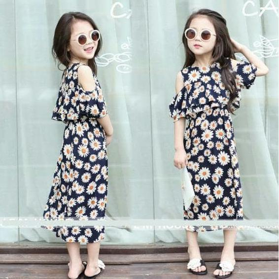 PROMO SALE DRESS ANAK IMPORT PREMIUM SUN FLOWER - BAJU BAYI ANAK MURAH KOREA BARU  FZ001XO