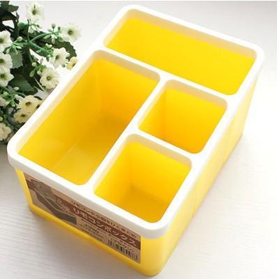 Warna Permen Kotak Penyimpanan Empat Kali Lipat Remot Kursi Kantor Atas Meja