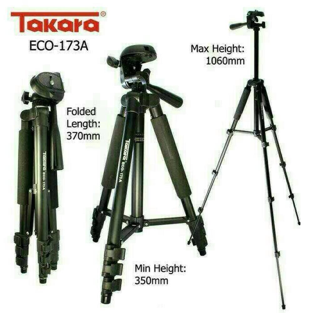 Tripod Takara Eco 173A Hp smartphone Slr Dslr Mirrorless mirorrless Gopro weifeng action cam 1 meter xiaomi yi