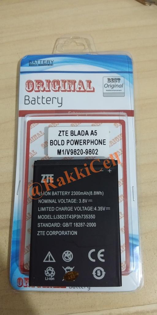 Original Baterai Batrai Batrei Batery Battery Batere Batre Battre Batrey BOLT Power Phone PowerPhone M1 . ZTE Blade A5 V9820 V9802