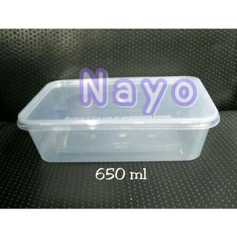 Harga preferensial Kotak plastik 650ml (50pcs)/ Thinwall kotak beli sekarang - Hanya Rp52