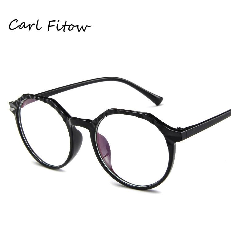 b2b0efdf134 Korean men and women glasses frame polygon trend frame mirror can be  equipped with myopic flat