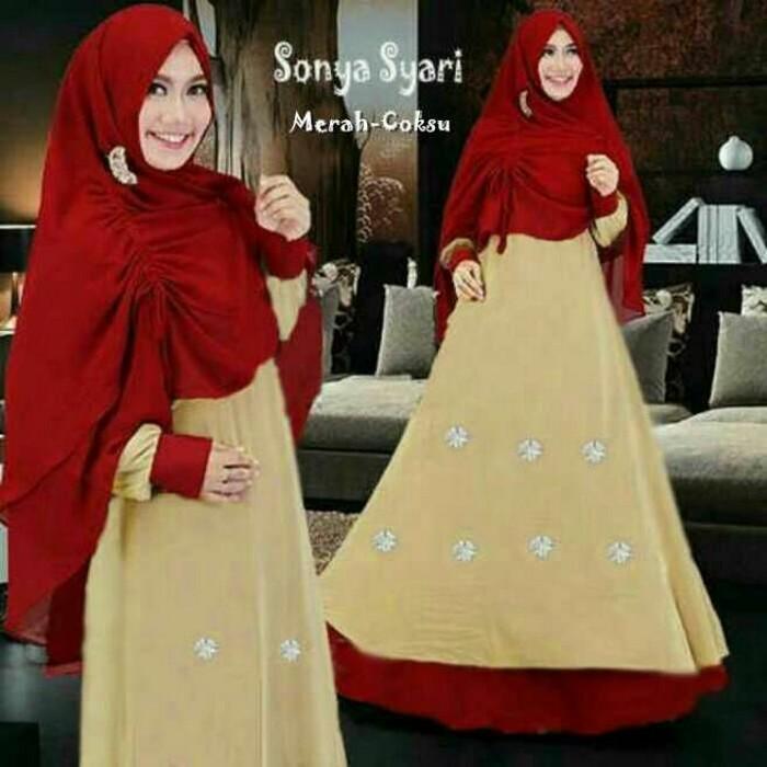 Tanah Abang Fashion terbaru termurah dan terlaris Gamis Muslim Sonya Aer