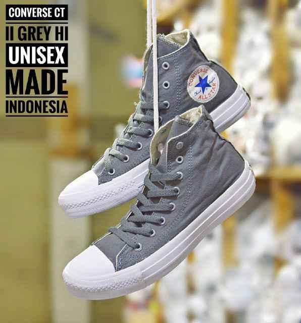 Promo Sepatu Murah Converse CT Hi Original Indo Abu Unisex Diskon