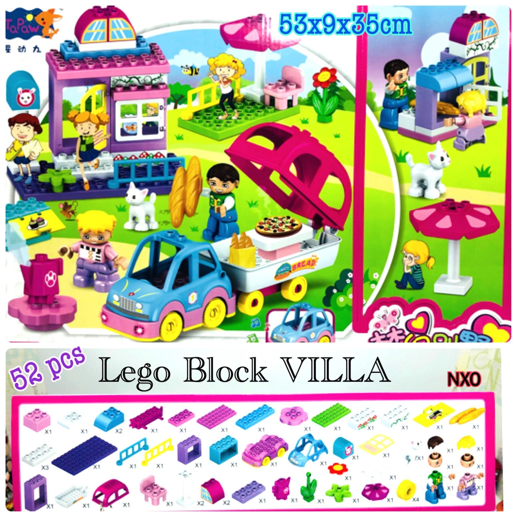 Mainan Lego Block Villa House 52 pcs
