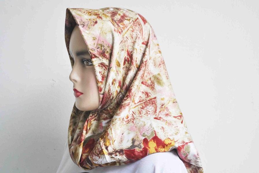 Kerudung fashion segi empat satin motif terbaru dari ZENITH