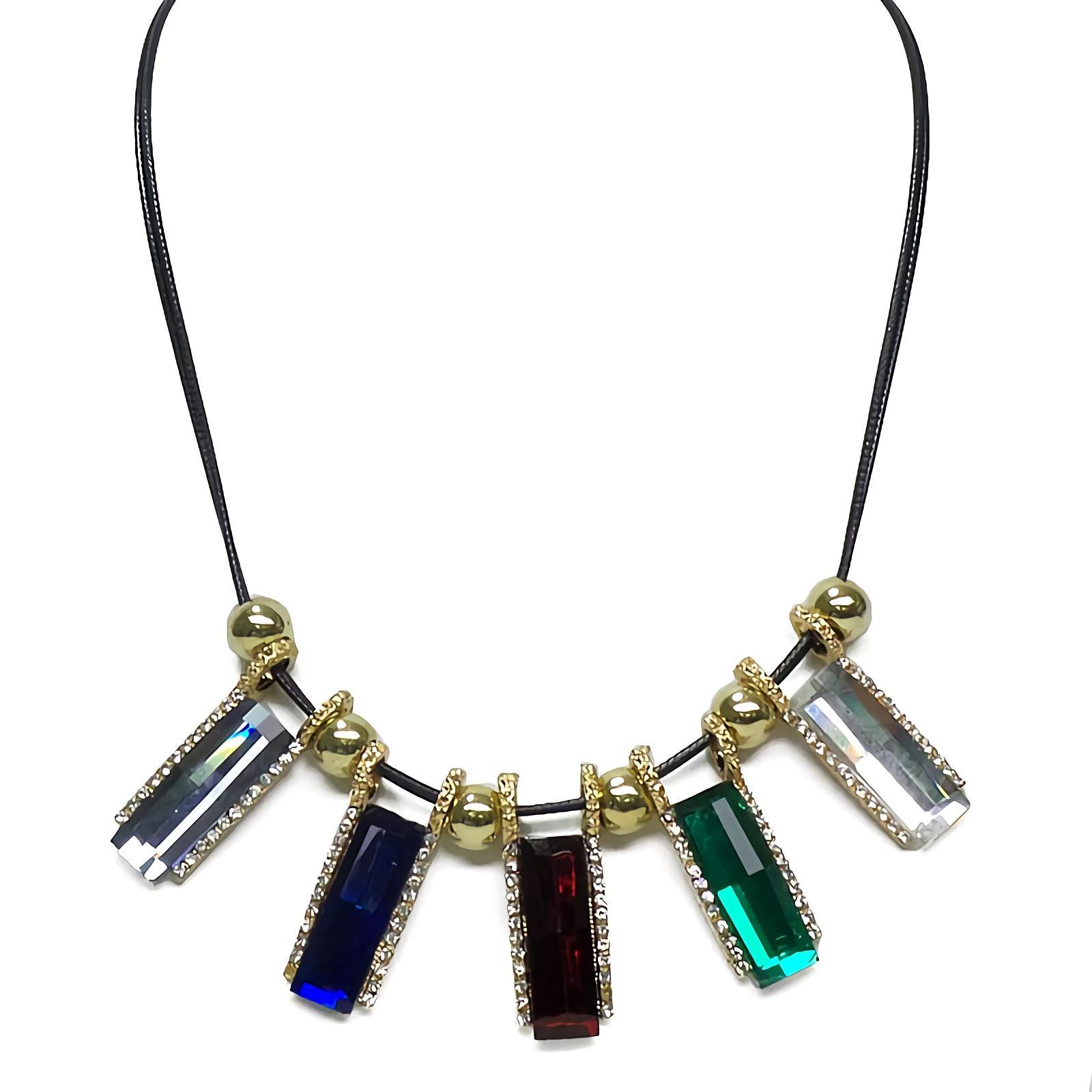 OFASHION Aksesoris Kalung CA-180314-K015 Necklace Fashion Xuping Jewelry Hitam Warni