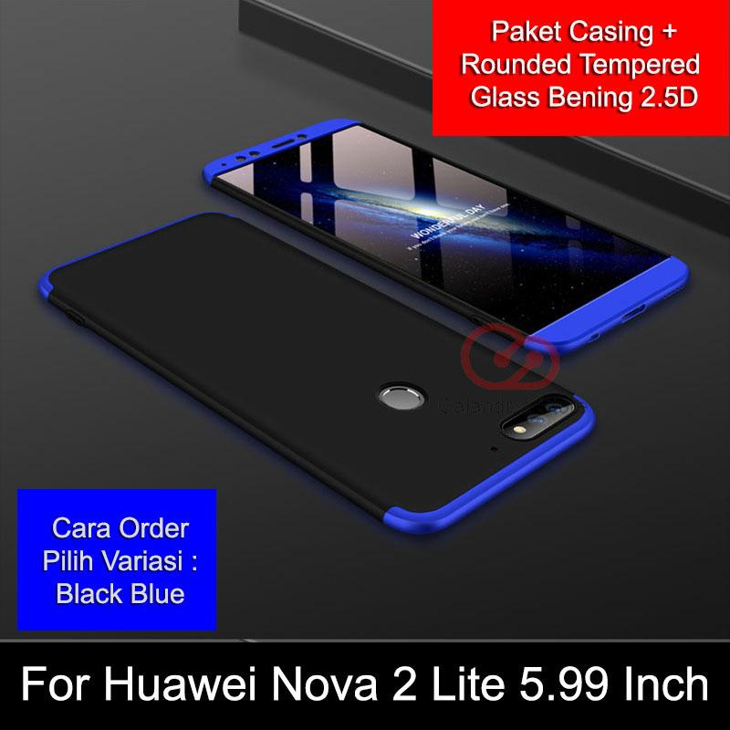 Calandiva Premium Front Back 360 Degree Full Protection Case for Huawei Nova 2 Lite 5.99 Inch + Rou