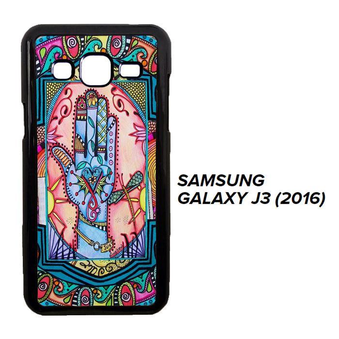 Hand Mandala Singleton Hippie X0147 Casing Samsung Galaxy J3 2016 Cust