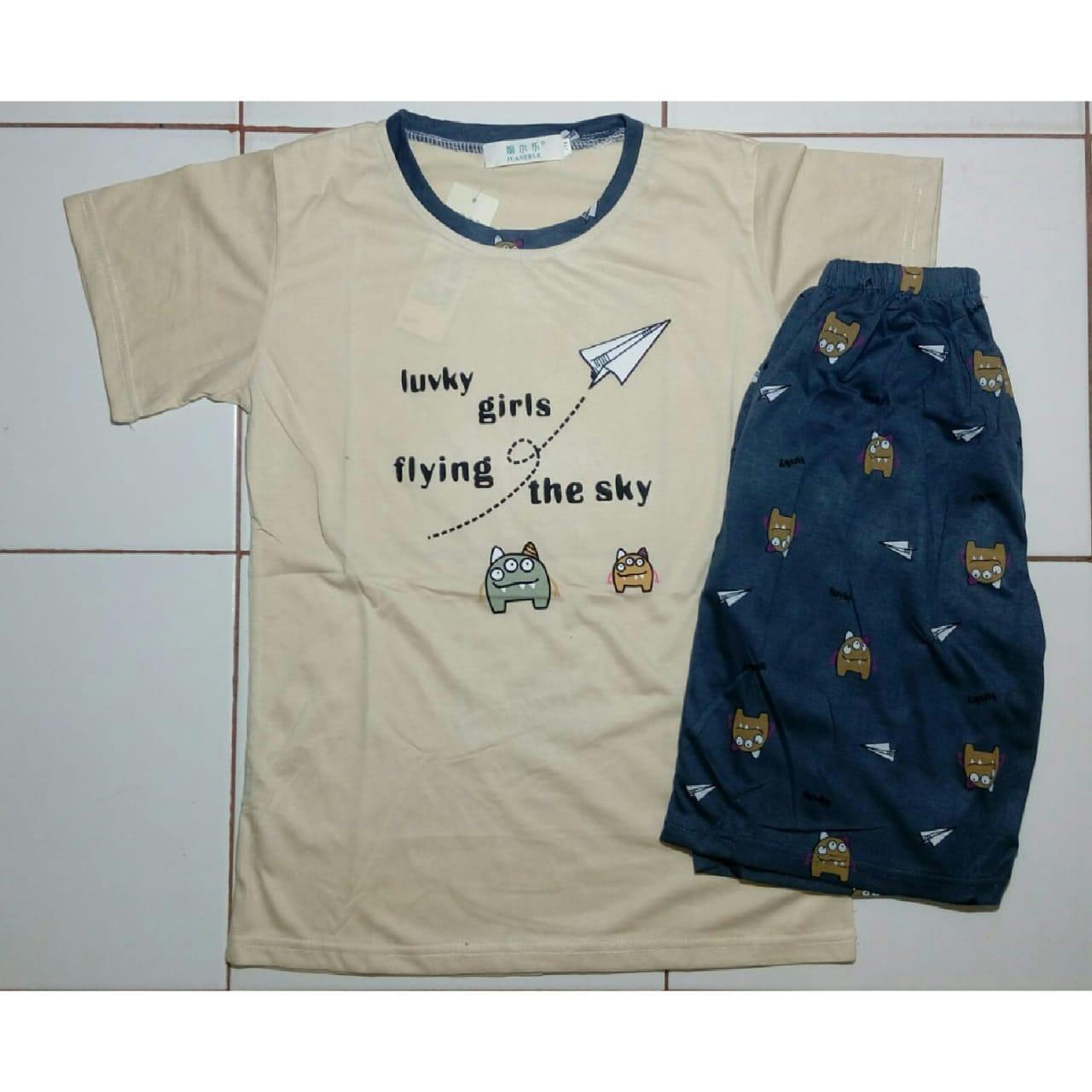 Cloth.88 Baju Tidur Piyama Wanita Setelan Kaos Celana Pendek